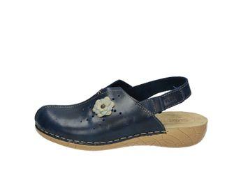 Fly flot dámske kožené sandále - modré