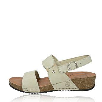 Fly Flot dámske kožené sandále s remienkom - béžové