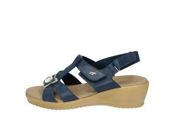 Fly flot dámske sandále na podpätku - modré