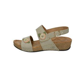 Fly flot dámske kožené sandále - šedé