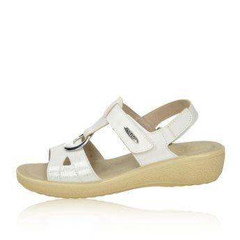 Fly Flot dámske štýlové sandále na suchý zips - biele