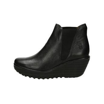 Fly London dámske módne kotníky - čierne