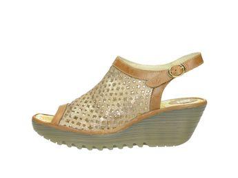 Fly London dámske sandále - koňakové