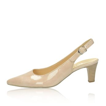 Gabor dámske lakované sandále - béžové
