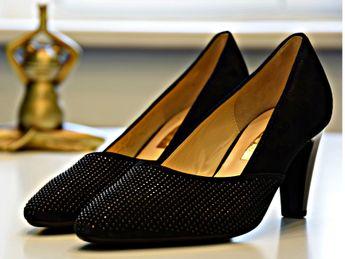 Gabor dámske lodičky - čierne