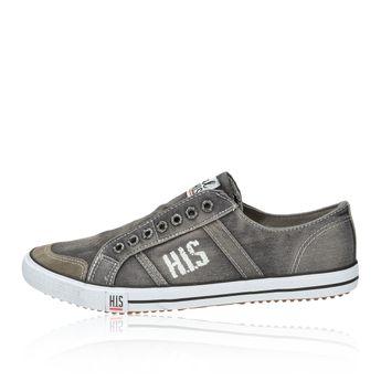 H.I.S. pánske plátené tenisky - šedé