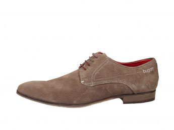 Bugatti pánske šnurovacie topánky - hnedé