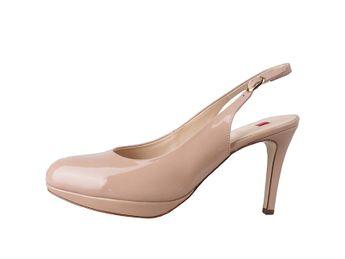 Högl dámske béžové lakované sandále