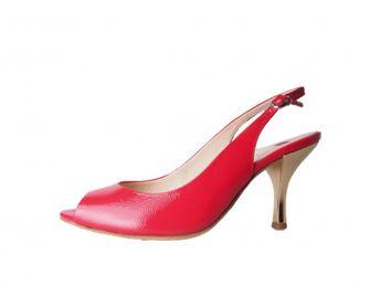 Högl dámske červené sandále