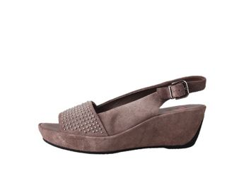 Högl dámske hnedé kožené sandále