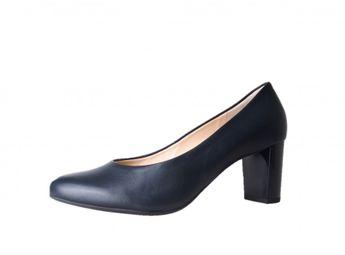 Högl dámske modro-čierne kožené lodičky