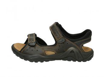Imac pánske hnedé kožené sandále