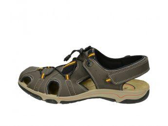 Imac pánske šedé pohodlné kožené sandále