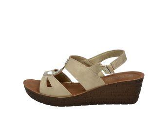 Inblu dámske béžové elegántne sandále na podpätku