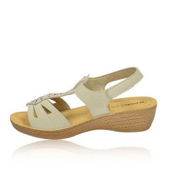 Inblu dámske béžové štýlové sandále s trblietkami