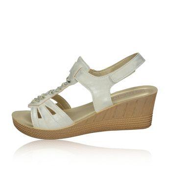 Inblu dámske biele elegántne sandále na podpätku