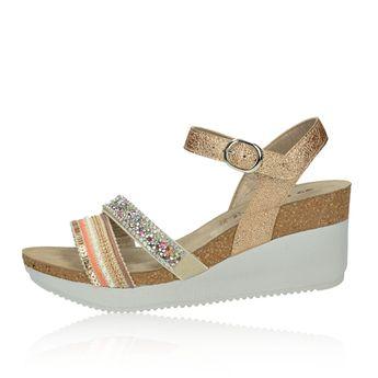 Inblu dámske elegantné sandále s ozdobnými prvkami - zlaté