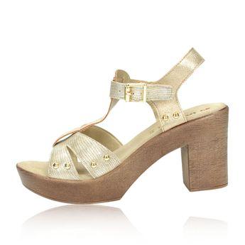 Inblu dámske elegantné šľapky vzorované - zlaté