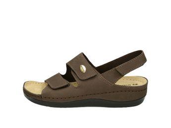 Inblu dámske hnedé kožené sandále