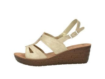 Inblu dámske letné sandále s ozdobnými prvkami - zlaté