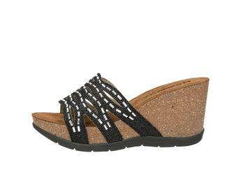 Inblu dámske luxusné šľapky s ozdobnými prvkami - čierne