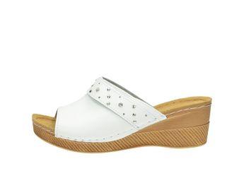Inblu dámske šľapky s ozdobnými prvkami - biele
