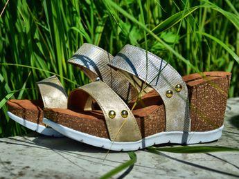 Inblu dámske štýlové šľapky - zlaté