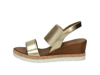 Inuovo dámske sandále na klinovej podrážke - zlaté