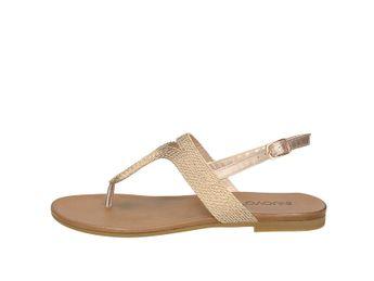 Inuovo dámske elegantné sandále s remienkom - zlaté