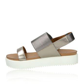 Inuovo dámske pohodlné sandále na platforme - zlaté