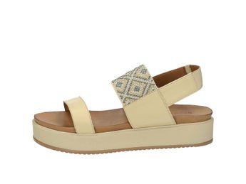 Inuovo dámske pohodlné sandále s ozdobnými prvkami - béžové