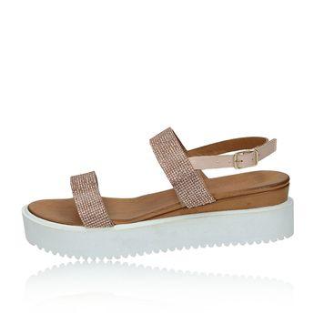 Inuovo dámske sandále s ozdobnými kamienkami - ružové
