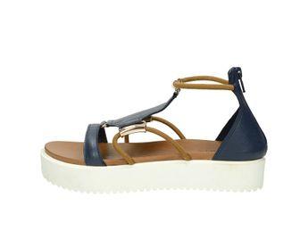 Inuovo dámske štýlové sandále na platforme - modré