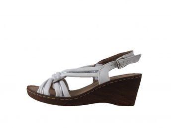 Jana dámske kožené sandále - biele