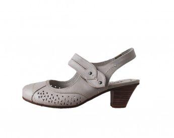 Jana dámske sandále s prackou - šedé
