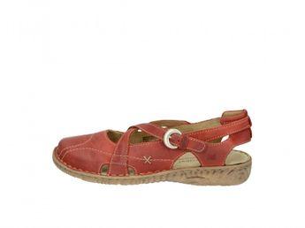 Josef Seibel dámske červené kožené sandále