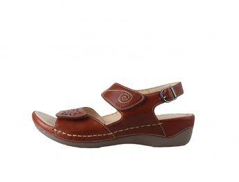 Josef Seibel dámske hnedé kožené sandále