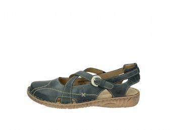 Josef Seibel dámske modré pohodlné kožené sandále