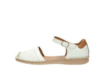 Josef Seibel dámske pohodlné sandále - biele
