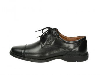Josef Seibel pánske čierne spoločenské kožené topánky