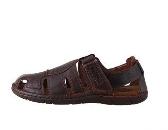 Josef Seibel pánske pohodlné sandále - hnedé