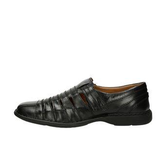 Josef Seibel pánske kožené sandále - čierne