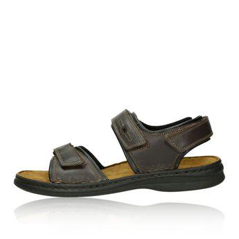 Josef Seibel pánske kožené sandále - tmavohnedé