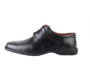 Josef Seibel pánskečierne spoločenské kožené topánky