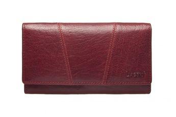 Lagen dámska červená kožená peňaženka