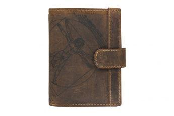 Lagen pánska hnedá kožená peňaženka