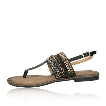 Lazamani dámske elegantné sandále s ozdobnými prvkami - čierne