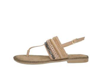 Lazamani dámske elegantné sandále s ozdobnými prvkami - béžové