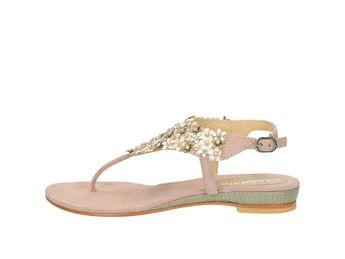 Lazamani dámske elegantné sandále s ozdobnými prvkami - ružové