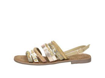 Lazamani dámske štýlové sandále s ozdobnými prvkami - zlaté
